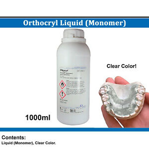Dental Dentaurum Orthodontic Orthocryl Liquid Monomer 1000ml Clear Acrylic Resin