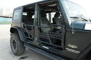Set Of 4 Jeep Wrangler Jk Rock Crawler Tubular Doors Off Road 07 16 Front