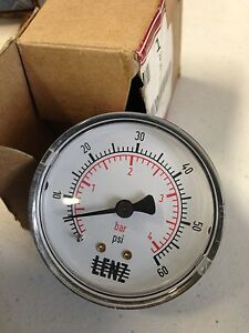 Pressure Gauge Part 27p104 Gardner Denver Air Compressor Part New