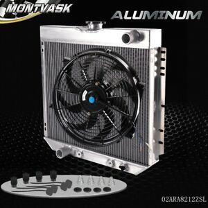 Aluminum Racing Radiator For 1967 1970 Ford Mustang 20 Core 14 Cooling Fan