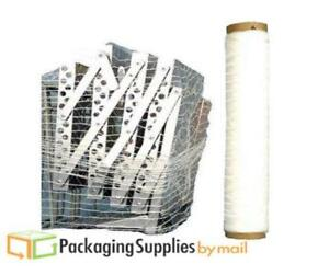 20 X 10000ft 3 Rolls Machine Pallet Netting Stretch Wrap Knitted Shrink Film