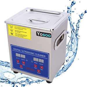 Us Stainless Steel 2l Liter Industry Heated Ultrasonic Cleaner Heater W timer