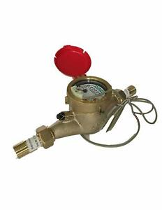 Dae Mj 75r Lead Free Hot Water Meter 3 4 Npt Couplings Pulse Output Gallon