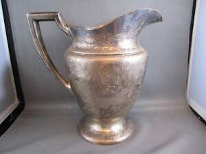 Antique Alvin Sterling Silver 4 Pint Water Pitcher M499 29 Troy Ounces