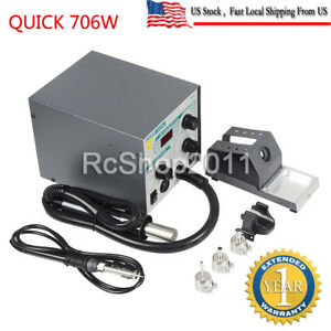 706w Quick Digital Smd Bga Hot Air Gun Soldering Iron Lead free Rework Station