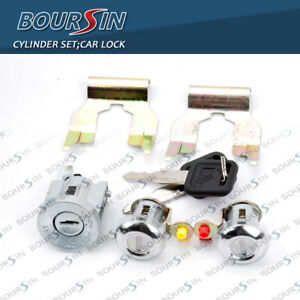 Ignition Cylinder Door Lock Key Set For Isuzu Npr Nqr Nkr Elf 1994 07 W Clips