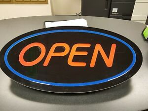 Electronic Open Sign With Back Light