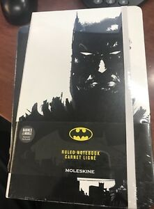 Lot Of 10 Moleskin Batman Black white Ruled Notebook Limited Edition New Sealed