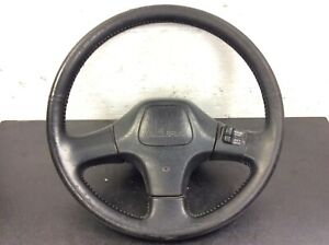90 91 1990 1991 Integra Steering Wheel Black Leather Used Oem