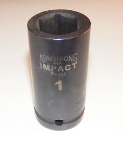 1 Inch Armstrong Usa 3 4 Inch Drive 6 Point Deep Impact Socket
