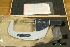 New Mitutoyo Quickmike Non rotating Disk Disc Outside Micrometer 1 2 2 25 55mm