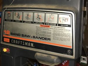Craftsman 12 Band Saw Sander With Metal Cutting speed Reducer P 41 L 5