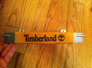 Timberland Brand Bracket Shoe Display Shelf Retail Collectible Leather Wrapped