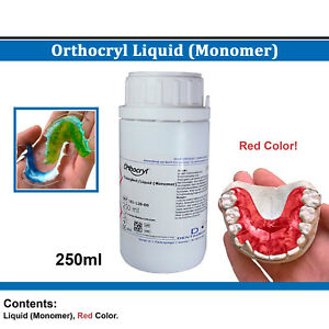 Dental Dentaurum Orthodontic Orthocryl Liquid Monomer 250ml Red Acrylic Resin