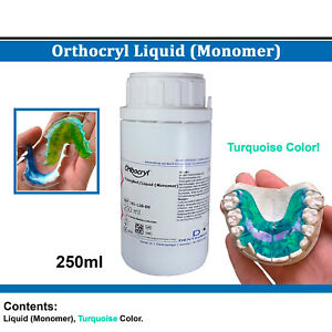 Dental Dentaurum Orthodontic Orthocryl Liquid Monomer 250 Turquoise Acryl Resin