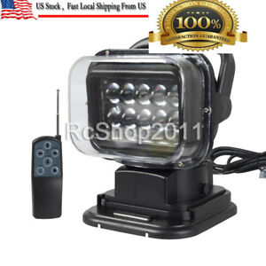 12v 50w Led Lights Searchlight 360 Magnetic Remote Control Work Spot Light Camp