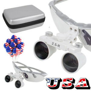 Latest Dental Surgical Medical Binocular Loupes 2 5x R Loupe Eva Case For Study