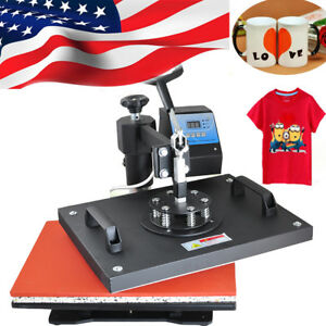 Usps 8in1 Transfer Sublimation T shirt Mug Hat Paint Heat Press Printing Machine