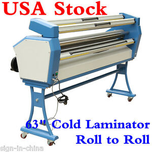Upgraded 63 Full auto Low Temp Wide Format Cold Laminator With Heat Assisted