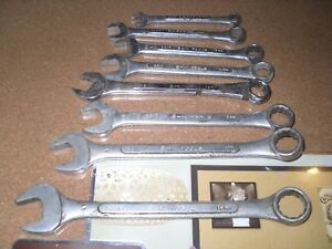 Sk S K 8 Pc Metric 12 Pt Combination Wrench Set 7mm 9mm 10mm 11mm 12mm 13mm Usa