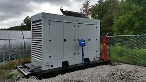 Primary Power 200 Kw Skid Mounted Encased Natural Gas Powered Generator