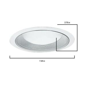 Halo 6 In White Recessed Ceiling Light Baffle Trim 6 pack For H7t And H7rt Cans
