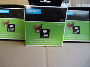 Case Of 10 Genuine Dymo Lw 30256 300 Large White Shipping Labels 2 5 16 X 4