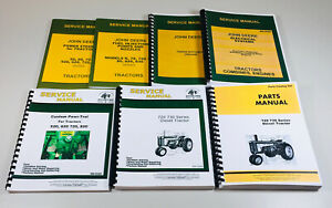 Service Parts Manual Set John Deere 720 730 Diesel Tractor Gas Electric Crank