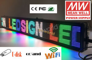 4 3 x40 Led Scrolling Sign Multicolor Programmable Message Display Board Indoor