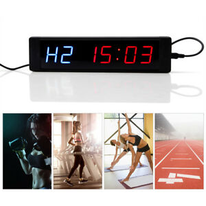 1pcs Led Display Programmable Workout Interval Timer Wall Clock With Remote Gl