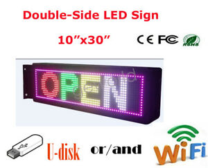 P10 Double Side Led Sign Multicolor Programmable Scrolling Message Display Board