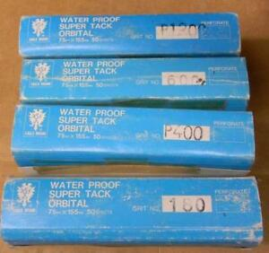 Lot Of Eagle Brand Waterproof Super Tack Orbital Sheets 75mm X 155mm