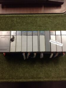 Allen Bradley Slc500 10 Slot Rack Loaded With 9 Modules And 1 Spacer Loc 40c