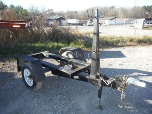 2007 Lincoln Electric K953 2000 Lb Cap Welding Welder Trailer W Cable Racks