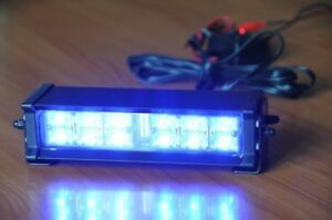 Led Blue Strobe Lights Rear Window Fit Orig Police Product