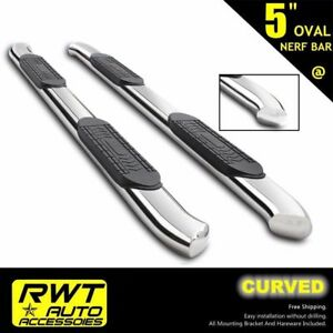99 18 Chevy Silverado 1500 2500 Double Cab 5 Curved Nerf Bars Side Steps