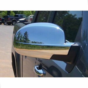 Full Mirror Covers For 2007 2014 Gmc Yukon Xl Sle slt chrome