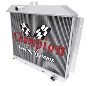 3 Row Cold Champion Radiator For 1949 1950 1951 Mercury Car Chevy Config