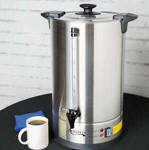Stainless Steel Coffee Urn Maker Large Commercial Catering Brew 110 Cup Socials