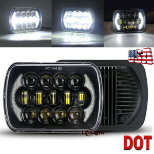 85w 5x7 7x6 Inch Cree Led Headlight Halo Drl For Jeep Wrangler Yj Cherokee Xj