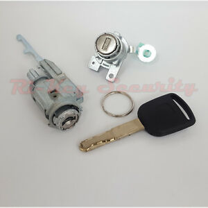 Ignition Cylinder And Door Lock Set For Honda Accord 03 07 4 Doors Chipped Key