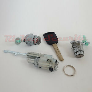 New Ignition Cylinder And Door Lock Set For Honda Element 03 05 W Chipped Key