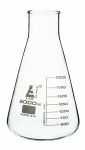 2000ml Conical Flask Wide Neck Eisco Labs 3 3 Borosilicate Glass 250ml