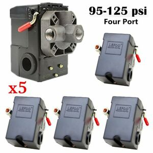 5x 4 Port Air Compressor Pressure Switch Control Valve 95 125 Psi W Unloader To