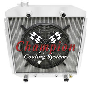 3 Row Cold Champion Radiator 16 Fan For 1953 1956 Ford Truck Flathead Engine