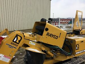 2017 Rayco Rg45 T r Track Stump Grinder Wireless Remote Control 44 Hp Turbo
