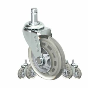Office Chair Caster Wheels Replacement Set Of 5 Hardwood Floor Chair Wh New