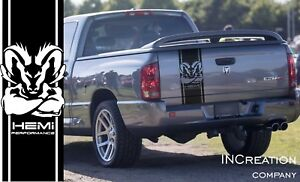Dodge Ram 1500 5 7 L Hemi Performance Vinyl Sticker Tailgate Decal Stripe Mopar