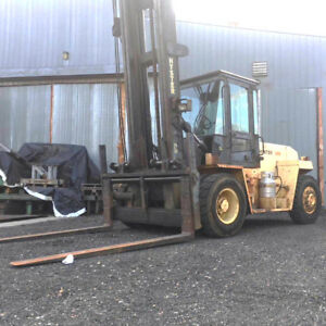 1996 Hyster 25 900lb Forklift Enclosed Cab Dual Tire Lpg Chevy H280xl
