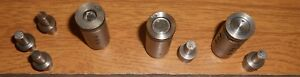 Lyman 45450 Sizer Lubricator Dies & Nose Punches Lead Bullet Processor Parts